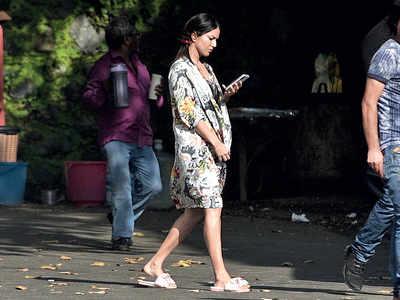 Sunny Leone spotted at Filmcity in Mumbai
