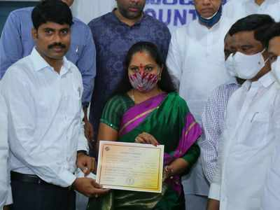 Former MP Kavitha Kalvakuntla wins MLC bypolls, likely to be in dad K Chandrashekar Rao's cabinet soon