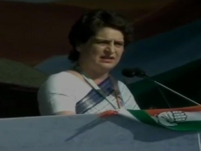 Priyanka Gandhi targets Prime Minister Modi in her first political speech at Congress rally in Gujarat