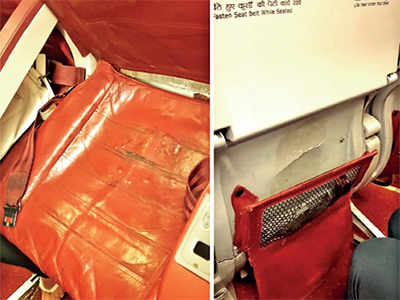 Seat in Air India flight makes for bumpy ride