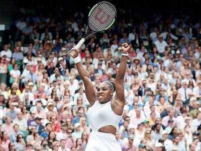 Serena Williams defeats Alison Riske in the Wimbledon quarter-final, to face Barbora Strycova in the semis