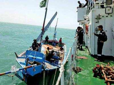 Indian Coast Guard seizes another Pakistani boat carrying drugs off Gujarat coast