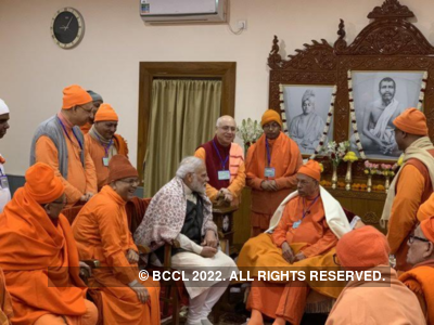 West Bengal: PM Narendra Modi visits Belur Math; calls it 'homecoming'