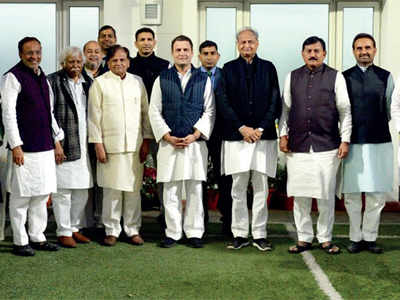 Congmen meet RaGa in Delhi, tell him they're confi dent of win