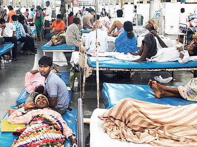 No beds left as patients flock hospitals for flu