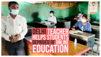 Inspiring: Delhi teacher helps students deprived of online education