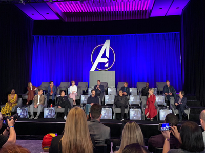 Avengers: Endgame press conference left chairs empty for fallen superheroes