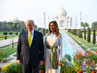 Photos: US President Donald Trump, First Lady Melania Trump visit Taj Mahal