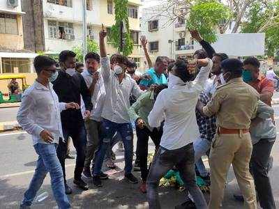 NSUI protests GTU decision to conduct exams