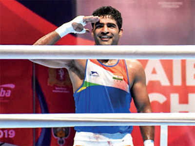 Brijesh Yadav wins draining opener at World Men's Boxing Championships