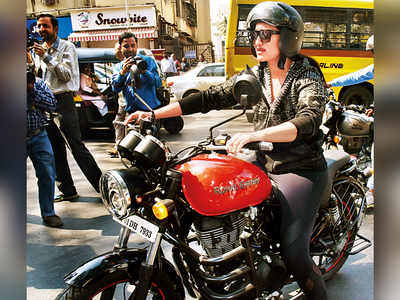 Sonakshi Sinha rides on hot wheels