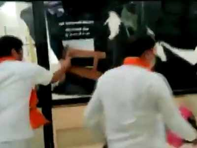 MNS workers vandalise Agriculture Department's office in Maharashtra's Latur