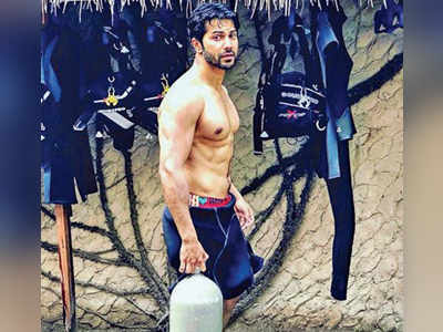 Varun Dhawan goes scuba diving