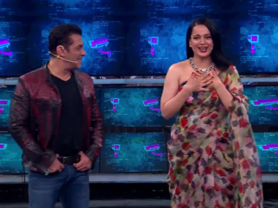 Bigg Boss 13: Salman Khan, Kangana Ranaut play kabaddi; mimic Sidharth Shukla, Asim Riaz