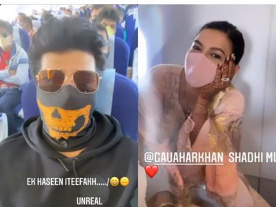 Gauahar Khan's ex-boyfriend Kushal Tandon bumps into her on flight; says 'Shaadi Mubarak'
