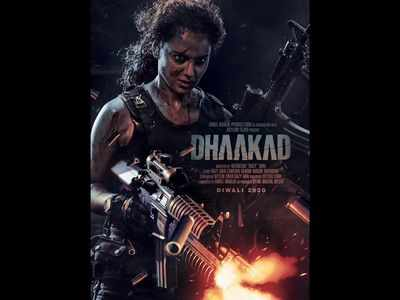 Kangana Ranaut looks fierce shooting guns in the new poster of action entertainer Dhaakad