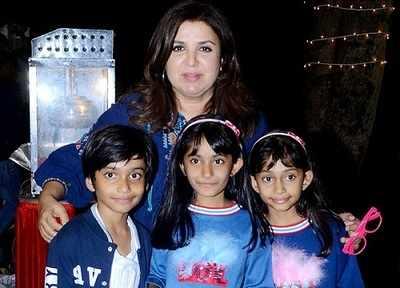 Farah Khan's triplets turn ten, hosts birthday party at Sajid Khan's residence