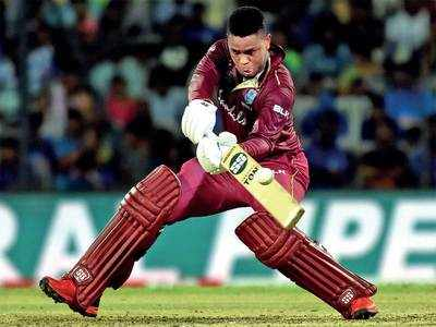 West Indies' Shimron Hetmyer pairs up with Shai Hope to hand India an eight-wicket defeat