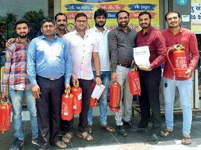 Extinguisher shortage in Ahmedabad