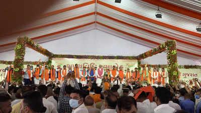 New ministry in Gujarat live updates: CM Bhupendra Patel keeps home, Kanubhai Desai gets finance