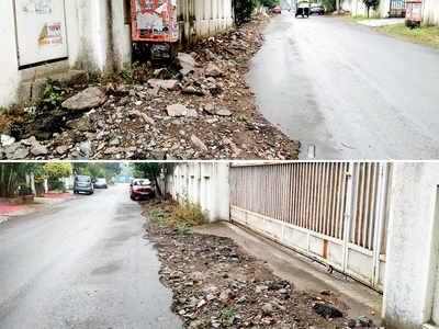 Debris from MSEDCL work, rain leading to accidents in Baner