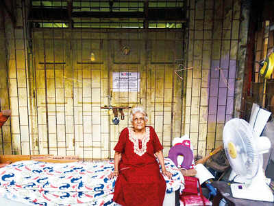 Rs 1.3-cr shop usurped, 83-yr-old stations herself outside