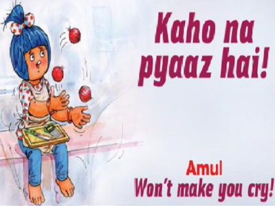 Amul highlights issue of high onion prices in its new topical advertisement