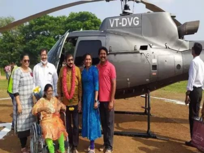Helicopter lands in school premises in Andhra Pradesh village: Headmaster among 8 booked