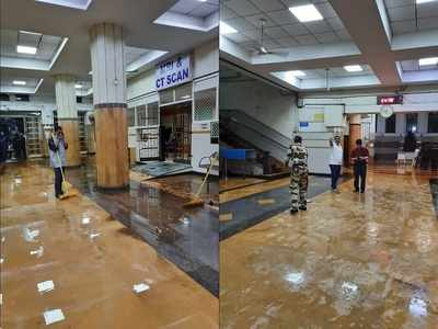 Mumbai rains: Water that entered JJ hospital after incessant showers now cleared