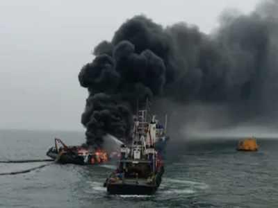 Minor fire in ship at Visakhapatnam port