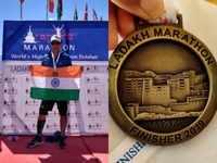 Pune resident Shajan Samuel complets Ladakh Marathon