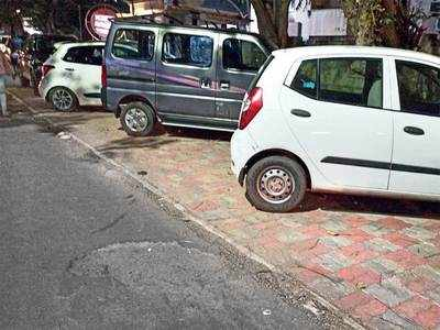 Footpath or parking space?