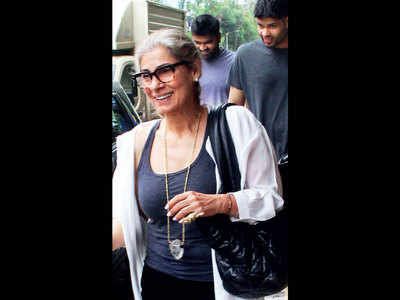Dimple Kapadia snapped in Mumbai