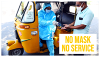 Chennai: Auto driver dons PPE suit, provides hand-sanitiser to passengers