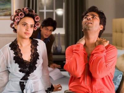 Preity Zinta shares a hilarious picture with Shah Rukh Khan and Karan Johar from the sets of Kabhi Alvida Naa Kehna