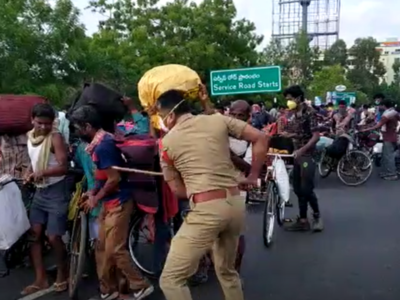 Andhra Pradesh: Police cane charge migrant workers near CM Jagan Reddy's residence