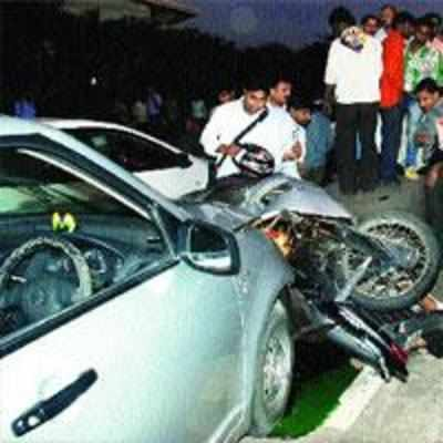Accident on Thane-Belapur road