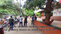 Ahead of the lockdown, Puneities beeline outside the supermarket to buy groceries