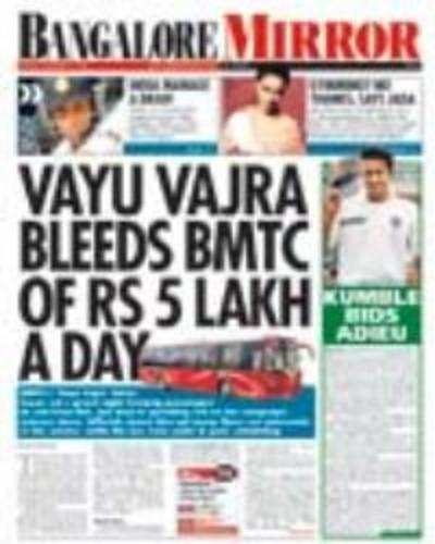 Vayu Vajra bleeds BMTC of Rs 5 lakh a day