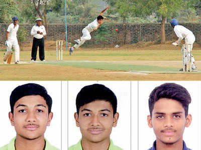 NR High School's bowlers head charge against Akhand Anand School in Under-19 Diwan Ballubhai Cup