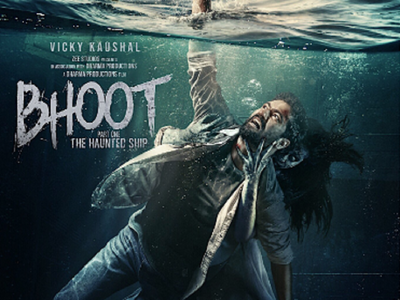 Bhoot Part One: The Haunted Ship poster: Vicky Kaushal fights a ghost on a sinking ship