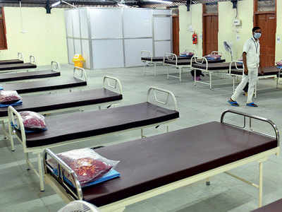 New isolation centres, but half of 30,000 hospital beds unused