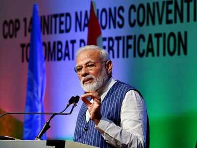 PM Narendra Modi at UNCCD COP14: Time to say goodbye to single-use plastic
