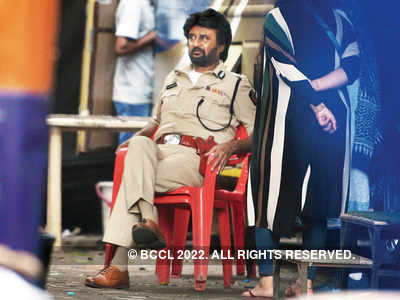 Rajinikanth spotted shooting in Mumbai