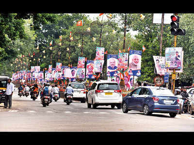 303 banners peppered Sinhagad Road; Shastri and FC roads rank next