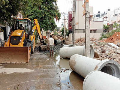 Choked roads here act as roadblocks to education