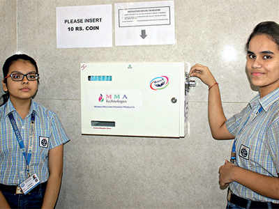 Thaltej: Udgam School for Children instals sanitary napkin vending machines for students