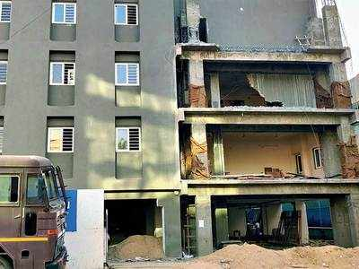Illegal constructions at Satellite School for Children demolished by AMC