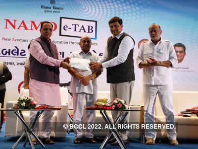 Vijay Rupani: 3.5 lakh Gujarat college students to get NAMO E-Tab at Rs 1,000 each