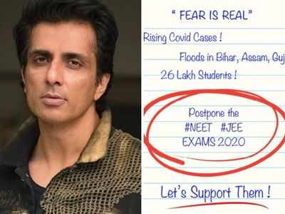 Sonu Sood requests government to postpone JEE, NEET exams amid COVID-19 pandemic
